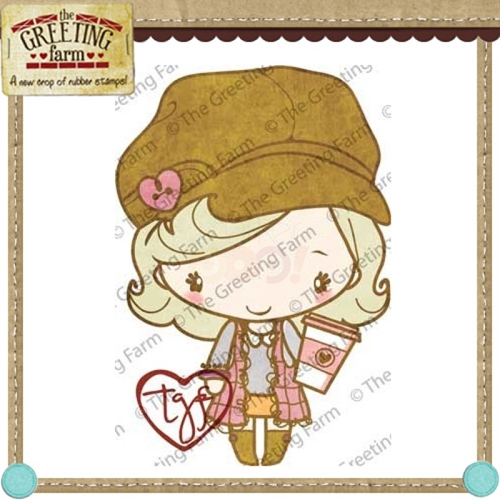 The Greeting Farm LATTE ANYA Cling Rubber Stamp* Preview Image