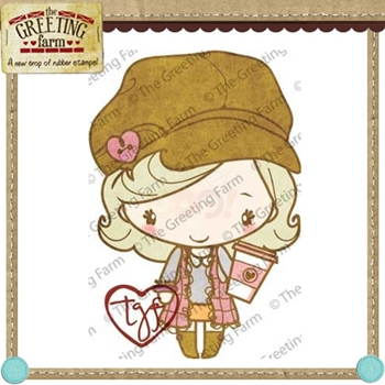 The Greeting Farm LATTE ANYA Cling Rubber Stamp*