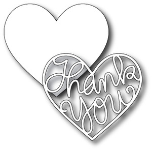 Simon Says Stamp THANK YOU HEART Craft DIE Pair S120