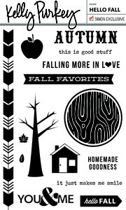 Kelly Purkey Clear Stamps HELLO FALL FLL1012