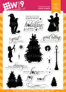 Wplus9 ICONIC CHRISTMAS Clear Stamps 90018