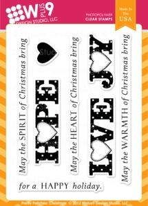 Wplus9 PRETTY PATCHES CHRISTMAS Clear Stamps CL-WP9PPC Preview Image