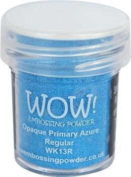 WOW Embossing Powder OPAQUE PRIMARY AZURE Regular WK13R*
