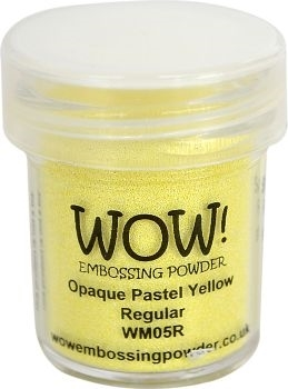 WOW Embossing Powder OPAQUE PASTEL YELLOW Regular WM05R