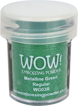 WOW Embossing Powder METALLINE GREEN Regular WG03R