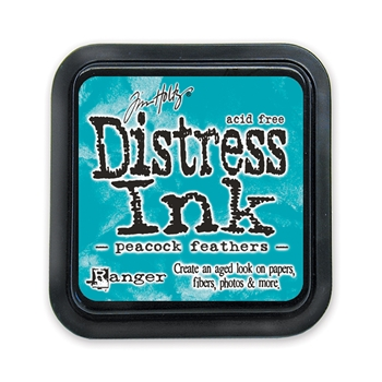 Distress ink pad Peacock Feathers
