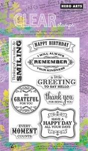 Hero Arts Clear Stamps REMEMBER YOUR KINDNESS CL649 Preview Image