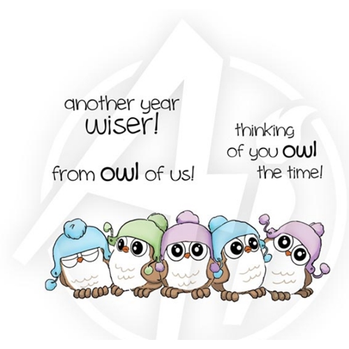 Art Impressions 5 WHOOTS Cling Rubber Stamp Set 4128 Preview Image