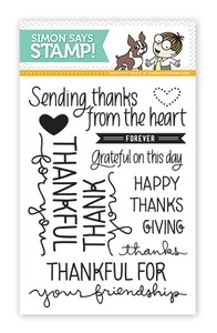 Simon Says Clear Stamps LOTS OF THANKS Handwritten Sentiments SSS09124