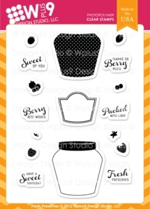 Wplus9 FRESH PRESERVES Clear Stamps 53600