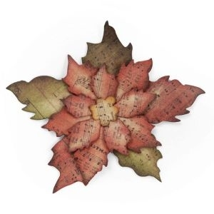 Tim Holtz Sizzix Bigz Die TATTERED POINSETTIA 658261 Preview Image