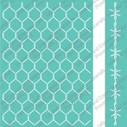 Cuttlebug 5 x 7 Embossing Folders CHICKEN WIRE Provo Craft