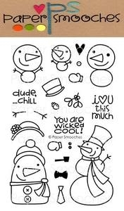 Paper Smooches FREEZY FELLAS Clear Stamps Kim Hughes Preview Image