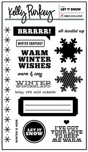 Kelly Purkey Clear Stamps LET IT SNOW LIS2012