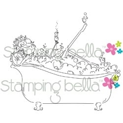 Stamping Bella Cling Stamp UPTOWN GIRL BUBBLES LOVES HER BUBBLY Rubber UM EB233 Preview Image