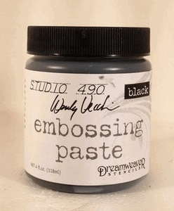Wendy Vecchi Embossing Paste BLACK Studio 490 WVPASTEBLK