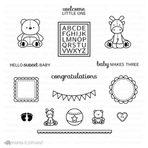 Mama Elephant Clear Stamp NURSERY DECO Set