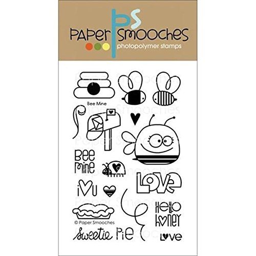 Paper Smooches BEE MINE Clear Stamps Kim Hughes Preview Image