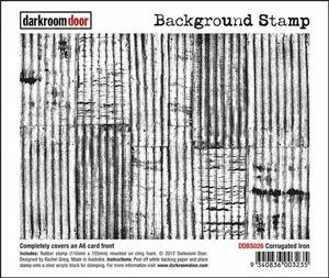 Darkroom Door Cling Stamp CORRUGATED IRON Background Rubber UM DDBS026 Preview Image