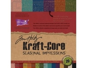 Tim Holtz Core'dinations SEASONAL IMPRESSIONS KRAFT CORE Cardstock 12 x 12 Paper Stack gx-1930-00 *