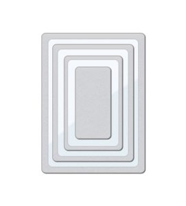 Wplus9 CLEAR CUT STACKERS ROUNDED RECTANGLES Designer Dies WP9D-041