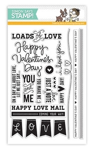 Simon Says Clear Stamps JUST A LOVE NOTE sss101212 *