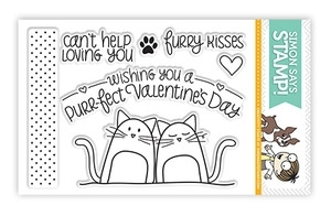 Simon's Exclusive Furry Kisses Clear Stamp Set