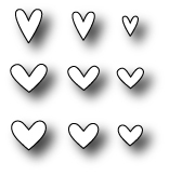 Simon Says Stamp MINI HEARTS SET Craft DIE S142