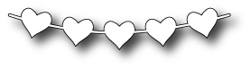 Simon Says Stamp STRING OF HEARTS Craft DIE S148 *