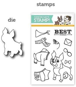 Simon Says DIE & STAMPS SET BOSTON TERRIER LOVE SetBTL12