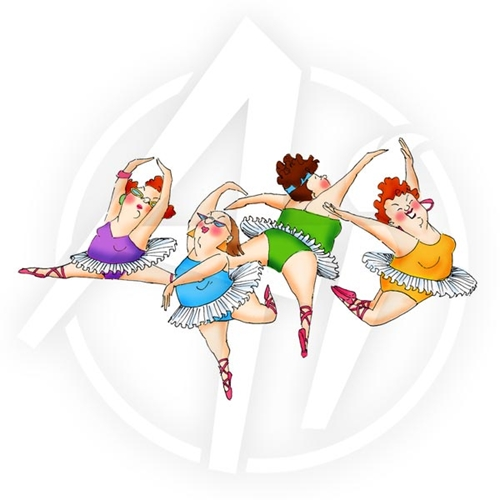 Art Impressions DANCERS SET Girlfriends Cling Rubber Stamp 3580 Preview Image