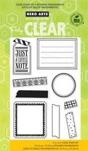 Hero Arts Clear Stamps TAPE YOUR MESSAGE Washi CL660