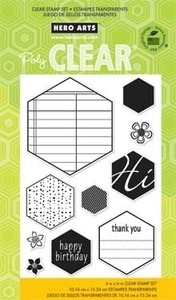 Hero Arts Clear Stamps HEXAGONS CL667