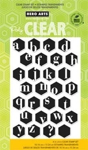 Hero Arts Clear Stamps ALPHABET HEXAGONS CL671