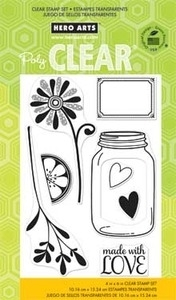 Hero Arts Clear Stamps LOVE JAR CL673