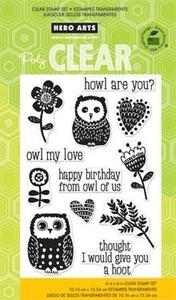 Hero Arts Clear Stamps HOWL ARE YOU CL675