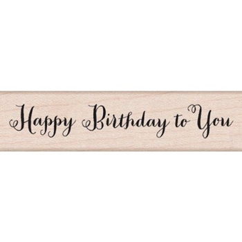 Hero Arts Rubber Stamp HAPPY BIRTHDAY SCRIPT c5650