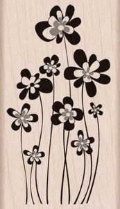 Hero Arts Rubber Stamp JUMPING FLOWERS g5750