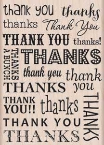 Hero Arts Rubber Stamp THANK YOU THANKS k5659