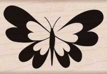 Hero Arts Rubber Stamp HEART BUTTERFLY d5743