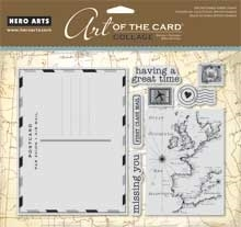 Hero Arts Cling Stamps COLLAGE POSTCARD AC023 Rubber Unmounted Preview Image