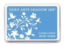 Hero Arts Shadow Ink Pad CORNFLOWER Blue Mid-Tone af235