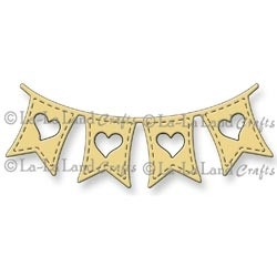 La-La Land Crafts HEART BANNER Steel Dies 8026 Preview Image