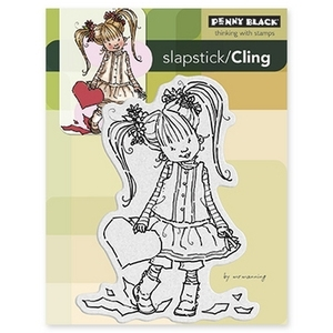 Penny Black Cling Stamp HER HEART Rubber Unmounted 40-184