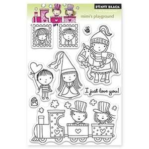 Penny Black Clear Stamps MIMI'S PLAYGROUND 30-147
