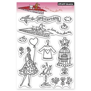 Penny Black Clear Stamps LOVE IS IN THE AIR 30-144