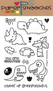 Paper Smooches CUTEASAURUS Clear Stamps Kim Hughes Preview Image