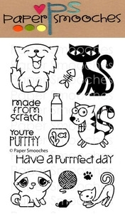 Paper Smooches NINE LIVES Clear Stamps Kim Hughes zoom image