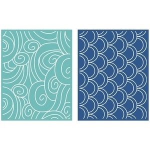 Lifestyle Crafts TIDE Embossing Folders 034016 Preview Image