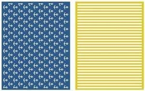 Lifestyle Crafts NAUTICAL Embossing Folders EF0018*